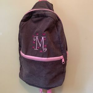 """""""M"""" initial backpack"""